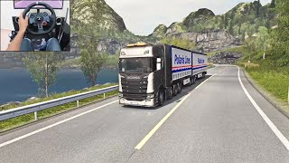 Scania S730 - Double-trailer | Euro Truck Simulator 2 | Logitech g29 gameplay