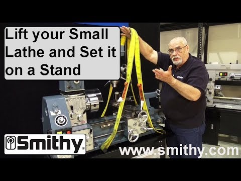 How to Lift Your Small Lathe & Set on Stand – Setting up a Granite Combo Machine
