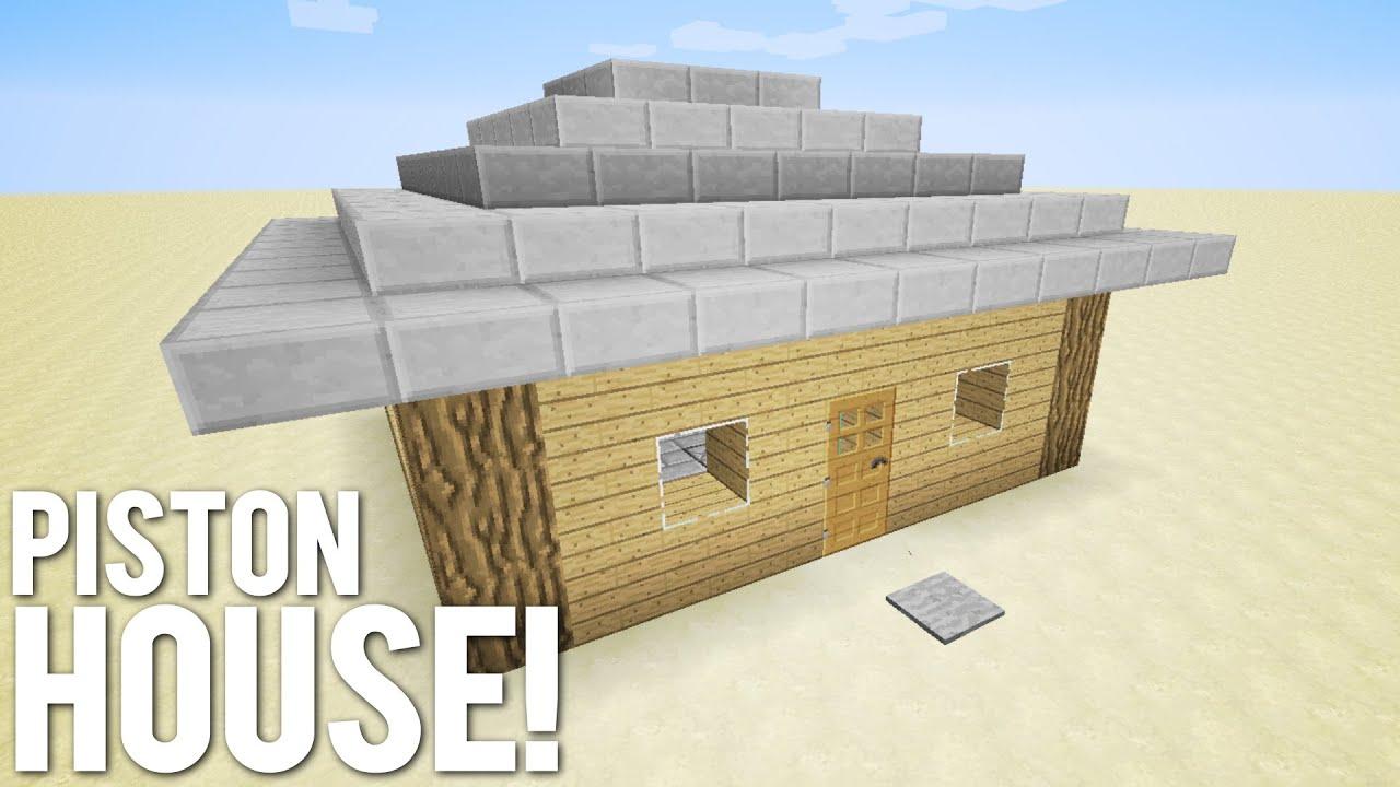 Minecraft: 9x9 Piston House - YouTube