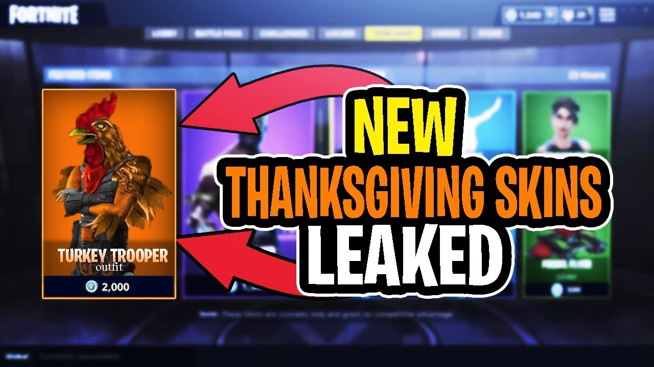New Thanksgiving Skins Coming To Fortnite Thanksgiving 2018