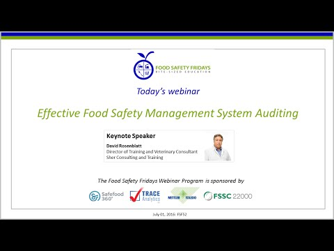 Effective Food Safety Management System Auditing