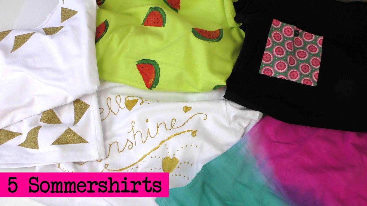 DIY Kleidung aufpeppen - 5 Shirts für den Sommer - Übersichtsvideo