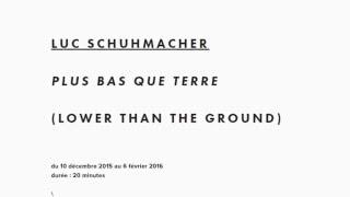 Une oeuvre en vidéo : Plus bas que terre, Luc Schuhmacher (alternatif-art)