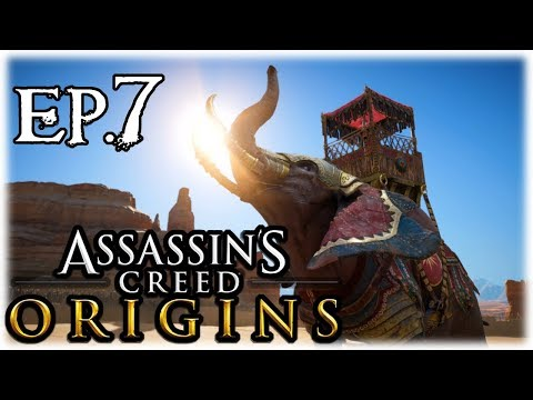 AC Origins Exploration Ep.7   Double Elephant Fight + Another Cool Pyramid