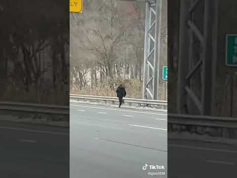 Not only did Gino Deanne capture a Route 42 hit-and-run crash Sunday, but he also got the driver sprinting from the scene down the highway. The video has since gone viral on TikTok.