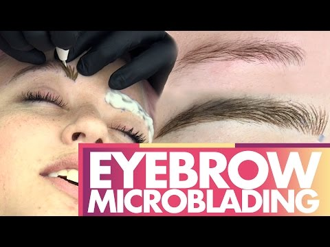 Lily's Eyebrow Microblading MIRACLE!!! (Beauty Trippin)