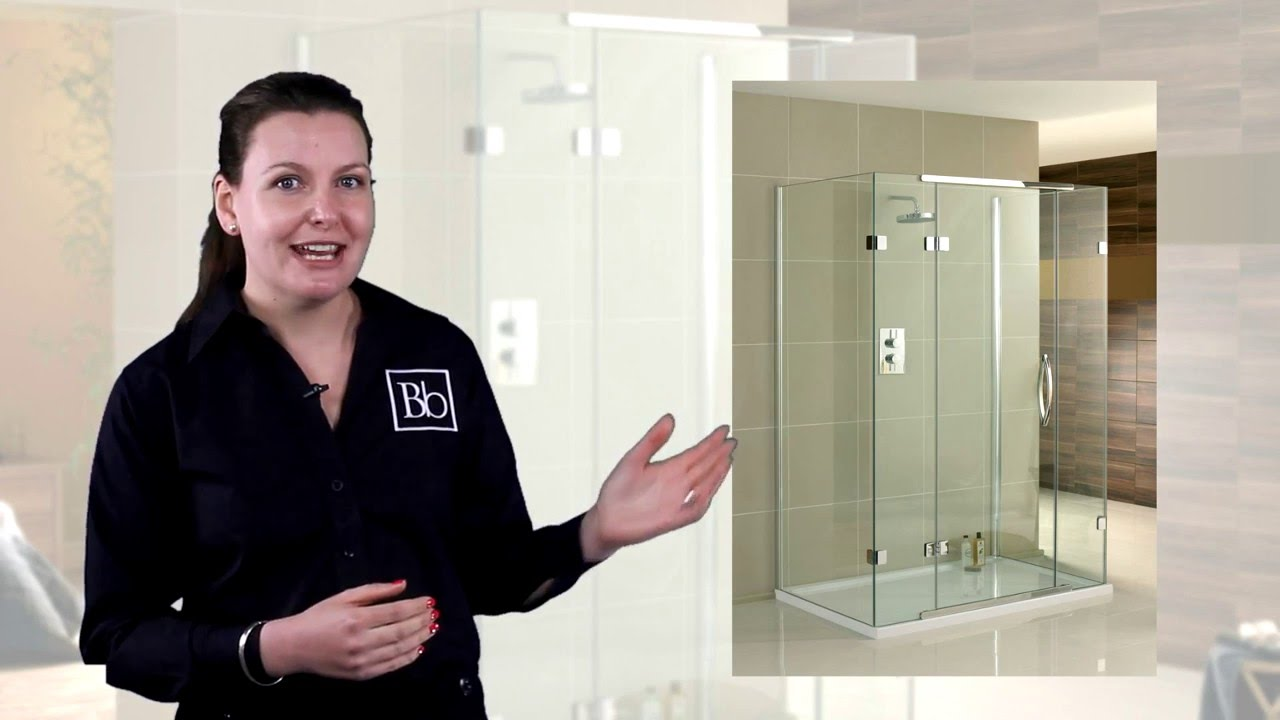 3 Sided Shower Enclosures for Luxury Bathrooms - YouTube