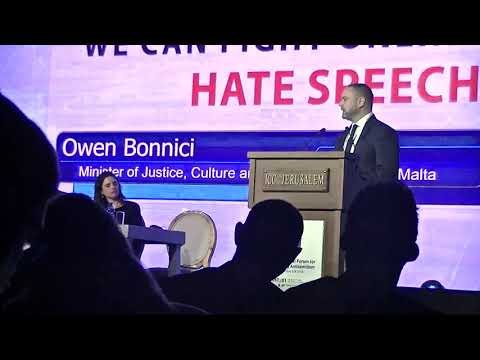 Global Forum to Combat Antisemitism 2018 3 20 8 Owen Bonnici: Minister of Justice Malta
