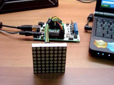 Program_ME da Globalcode controlando Matriz de Leds 8x8