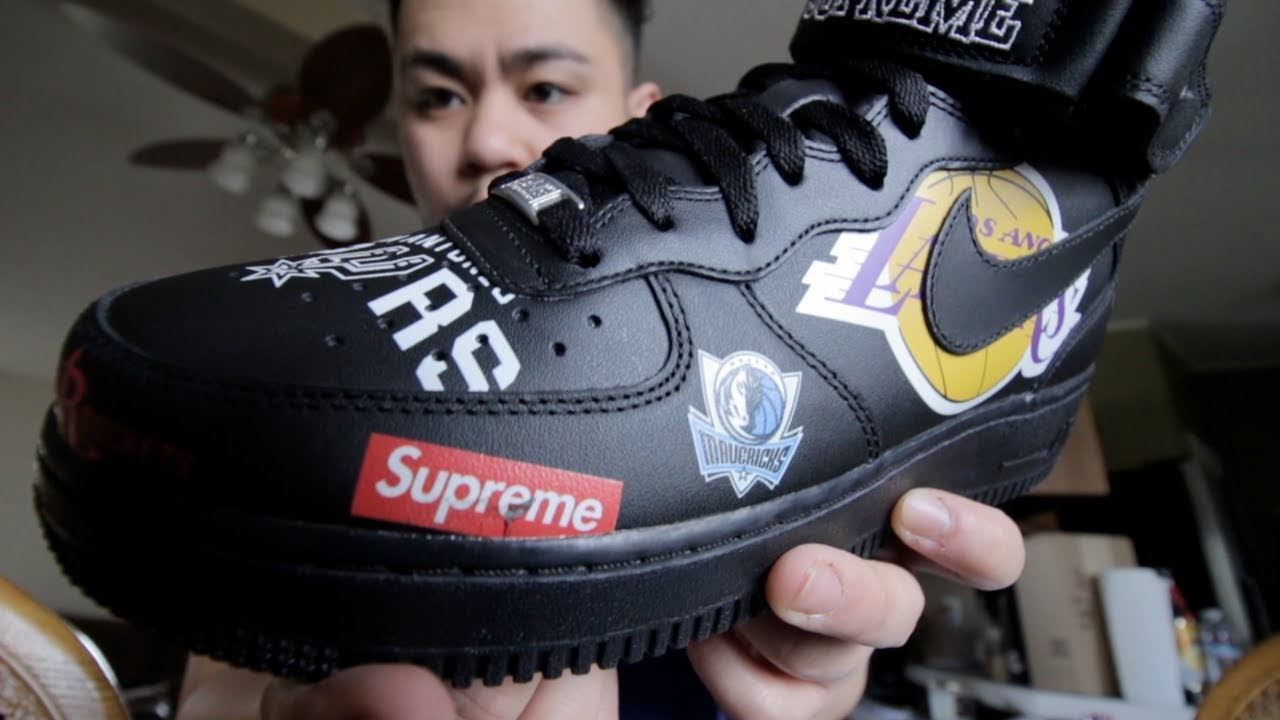 SUPREME NBA NIKE AIR FORCE 1 MID!!! | UNB0XING + REVIEW!! | WASN'T EXPECTING THIS