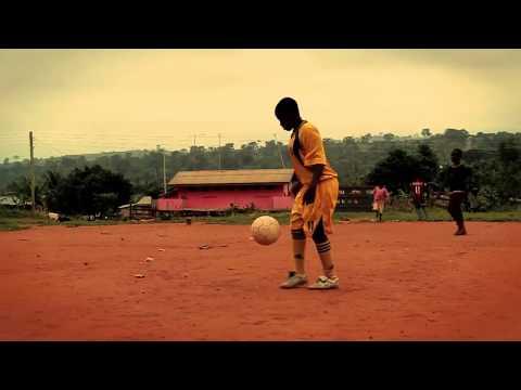 Local community girls in Asesewa (Ghana) playing soccer / football