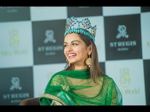 Manushi Chhillar's  first media interaction post her historic win at Miss World 2017