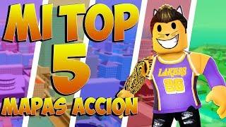👍MI TOP 5 ROBLOX ACTION MAPS⚔️ FAVOURITES! - ROBLOX
