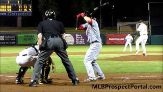 Jesse Winker rips base hit - Cincinnati Reds - Arizona Fall League 2014
