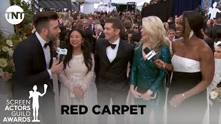 Cast of The Marvelous Mrs. Maisel: Red Carpet Interview | 26th Annual SAG Awards | TNT