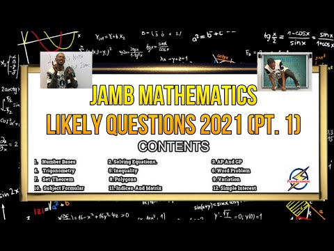 Jamb 2021 Mathematics Likely Questions | Detailed Solution (Pt. 1)