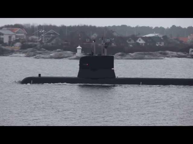 Ubåt mellan Grötö och Hönö HD