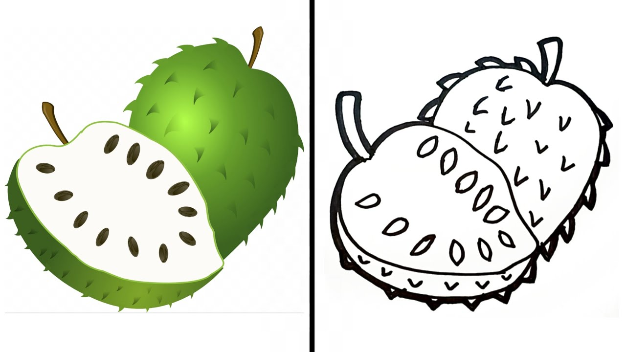 Cara Menggambar Buah Nangka Super Simple How To Draw Jackfruit Step By Step For Beginners Youtube