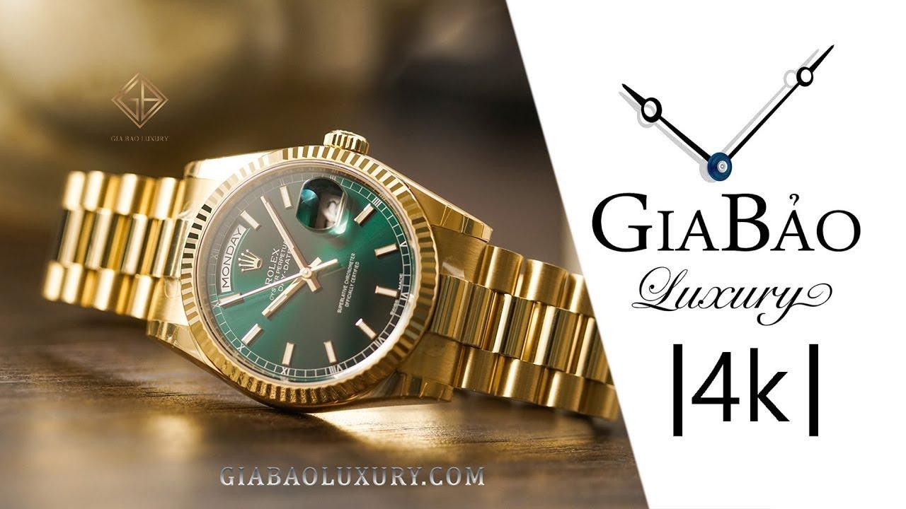 Review trên tay đồng hồ Rolex Day-Date 36 118238 và so sánh với 128238