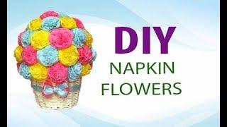 Цветы из салфеток своими руками  Paper Napkin Flowers