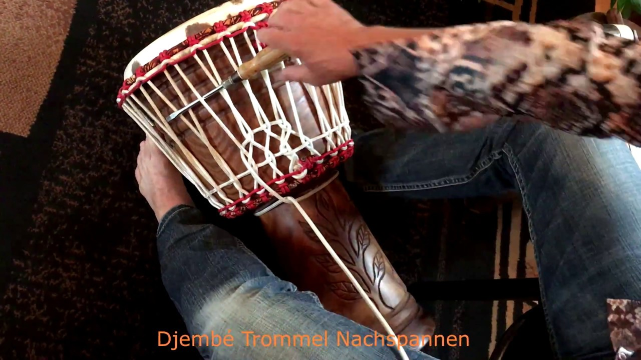 diagram of tuning a rope tuned djembe [ 1280 x 720 Pixel ]