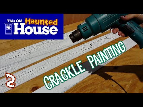 Crackle Paint Finish & Crackle Effect - Haunted House Facade