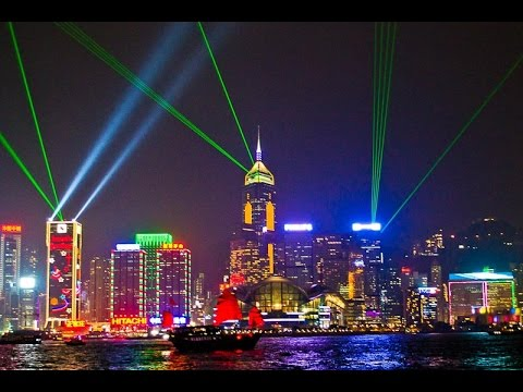 The Biggest Symphony Lights Of Hong Kong   YouTube