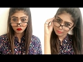 Makeup For Glasses | 2 Lip Options | Rinkal Soni