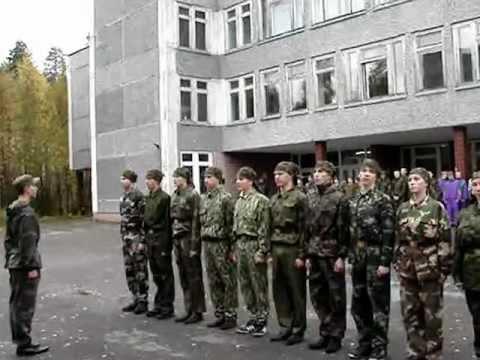 Строевая подготовка - школа №1 г.Костомукши