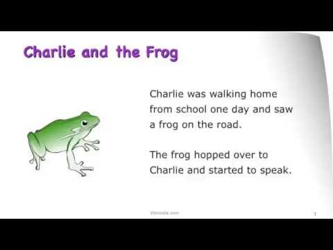 Charlie And The Frog - A Wordville Reading Comprehension Story