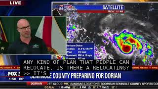 TRACKING DORIAN: Seminole County Emergency Officials Are Meeting To Discuss Hurricane Dorian