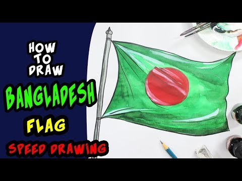 How to draw national flag of Bangladesh ||TONNI ART