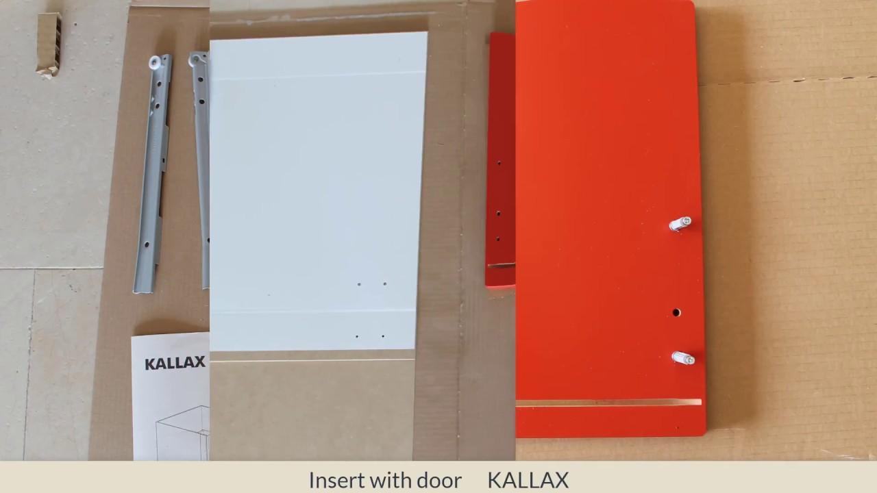 insert with door kallax youtube. Black Bedroom Furniture Sets. Home Design Ideas