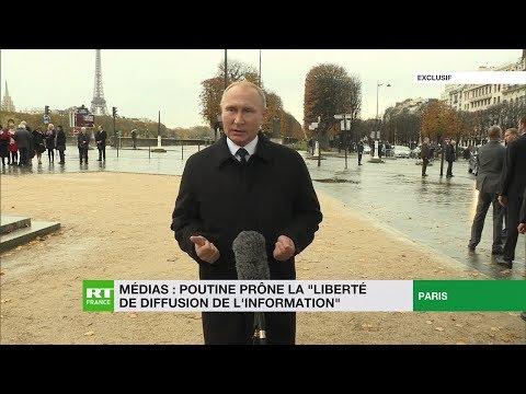 Vladimir Poutine prône la «liberté de diffusion de l'information»