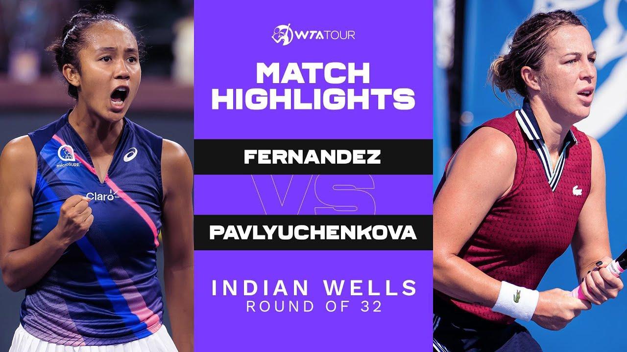 Download Leylah Fernandez vs. Anastasia Pavlyuchenkova | 2021 Indian Wells Round of 32 | WTA Match Highlights