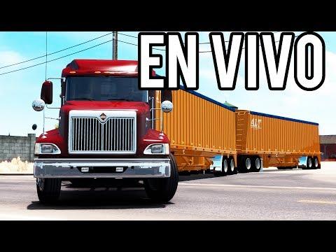 EN VIVO | International 9400i Eagle Doble Trailer Banens | American Truck Simulator