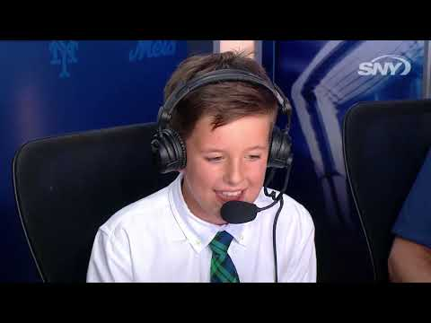 Video: 'Kidcaster' From Area Gets Shot In Mets' Broadcast Booth