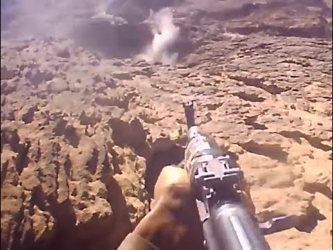 GoPro Cam : Houthis attacking Saudi positions in Najran region |  December 2018 | Saudi Arabia