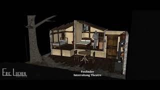 Foxfinder Scenic Design by Eric Luchen - 3D rendering
