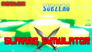 NEW SUBZERO, NEW SWORDS AND MORE | Slaying Simulator (ROBLOX)