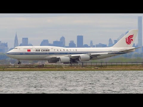 Air China Boeing 747-8i [B-2481] Stunning Takeoff from New York JFK Airport [Full HD]