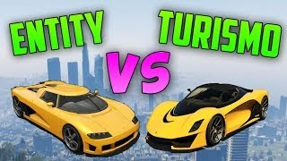 Entity XF VS Turismo R - Test de Velocidad - El Coche más Rápido de GTA V Online 1.11