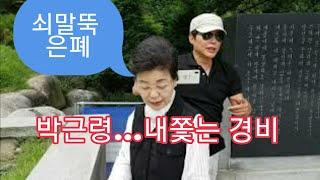 박근령 묘소에서 내쫓는 경비원 (feat.쇠말뚝)