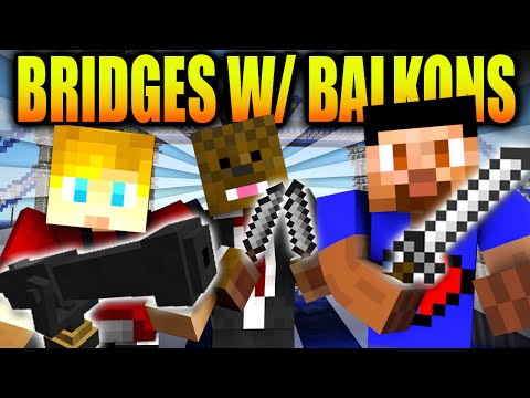 MINECRAFT BRIDGES WITH MODDED WEAPONS with The Pack