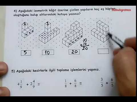 4 Sinif Matematik 2 Donem 2 Yazili Ornek 1 Bulbulogretmen Youtube