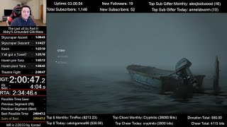 The Last of Us Part II Speedrun World Record! (2:00:55 IGT) for Abby% on Grounded mode (Glitchless)