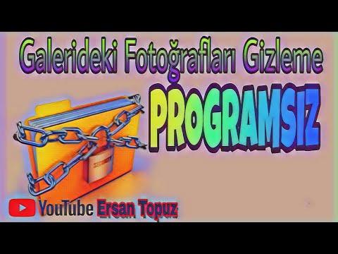 3e8151e5ceb2f Galerideki Fotoğrafları Gizleme | Pragramsız - YouTube
