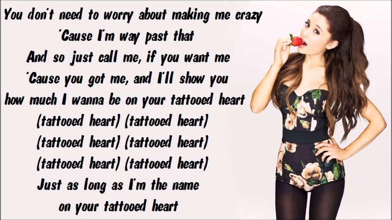 Ariana Grande - Tattooed Heart Karaoke / Instrumental with