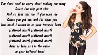 Repeat youtube video Ariana Grande - Tattooed Heart Karaoke / Instrumental with lyrics on screen