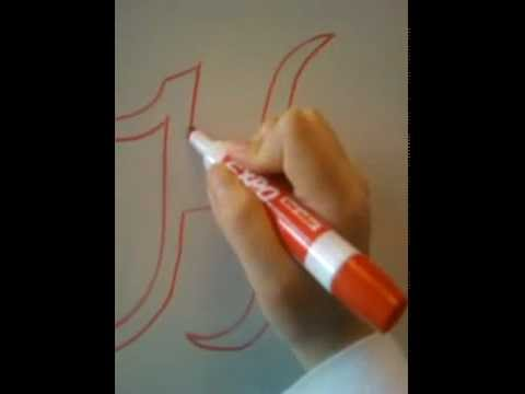 HOW TO DRAW 3D LETTER (H)